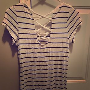 Tops - Black and white stripped shirt